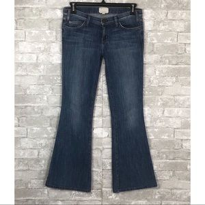 CURRENT ELLIOTT Flare Wide Leg Denim Jeans Size 28